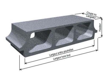 Plancher hourdis : caractéristiques techniques d'un entrevous béton